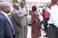 Kay Moris at Press Conference - Ghana