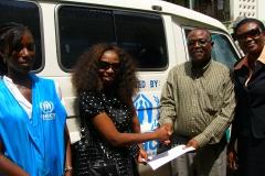 Meds donated to UNHCR Officers in Buduburam