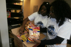 Getting meals ready for the homeless in Peel