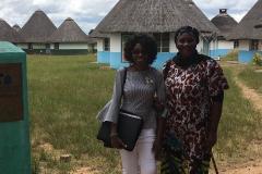 Kay Morris President and Volunteer Queen Ester visit Manhinga Village Zimbabwe