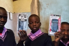 Students at Amson Education Centre receive Calculators