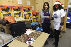 Kay donates toys and clothing to Nellys Women Shelter