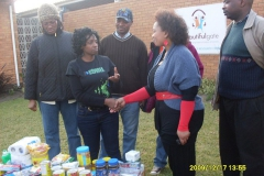Donating food to orphanage in South Africa