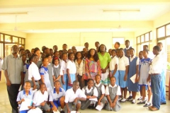 Kay visits and address students at Merton School - Ghana